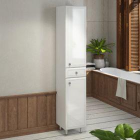 Шкаф-колонна Comforty  Сочи-35 белый глянец