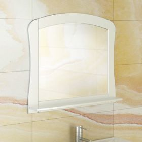Зеркало Comforty Венеция-80 белый глянец