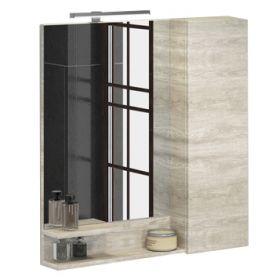 Зеркало-шкаф Comforty Верона-75 дуб белый