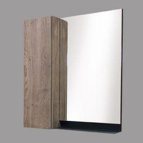 Зеркало-шкаф Comforty Кёльн-75 дуб темный