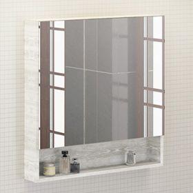 Зеркало-шкаф Comforty Никосия-80 дуб белый