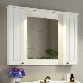 Зеркало-шкаф Comforty Палермо-120 белый глянец