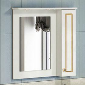 Зеркало-шкаф Comforty Палермо-80 патина золото
