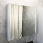 Зеркало-шкаф Comforty Сорренто-90 светло-серый