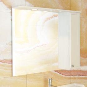 Зеркало-шкаф Comforty Сочи-100 белый глянец