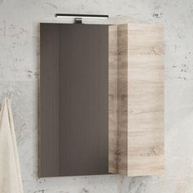Зеркало-шкаф Comforty Тромсе-60 дуб сонома