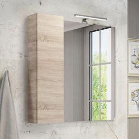 Зеркало-шкаф Comforty Тромсе-80 дуб сонома