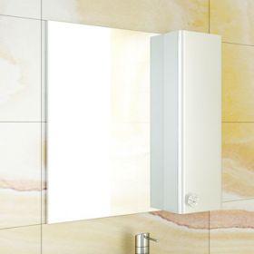 Зеркало-шкаф Comforty Флоренция-70 белый глянец