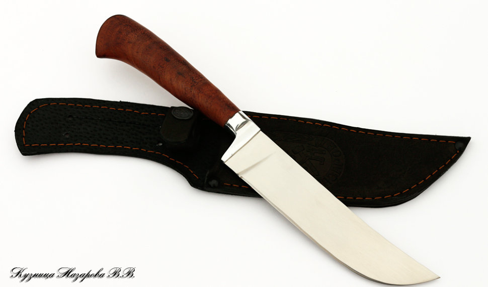 Нож Узбекский пчак, сталь 95х18, рукоять дерево бубинга