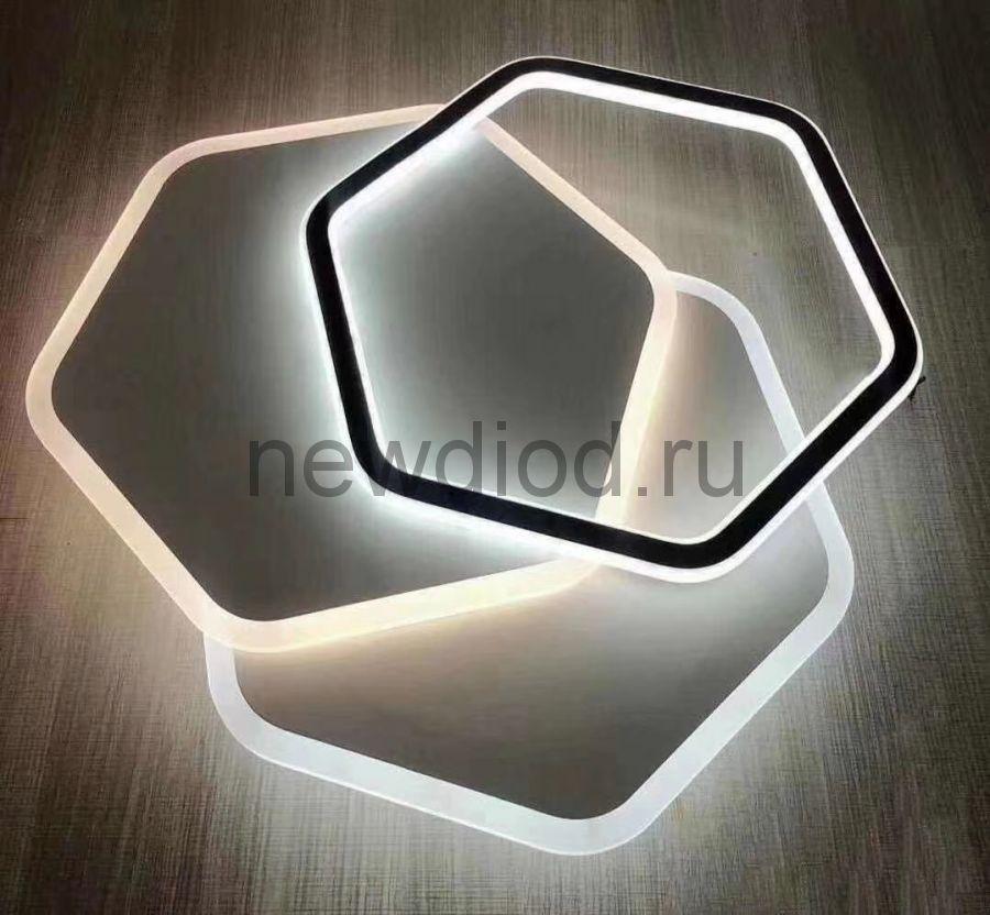 Управляемый светодиодный светильник GEOMETRIA 9254-4 90Вт-23м² 500мм 6/3/4000K пульт Oreol
