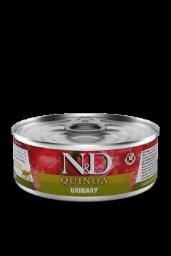 N&D CAT QUINOA URINARY (Киноа Профилактика мочекаменной болезни для кошек) 80г.