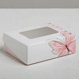 Коробка с окошком «Мечтай», 10 × 8 × 3.5 см