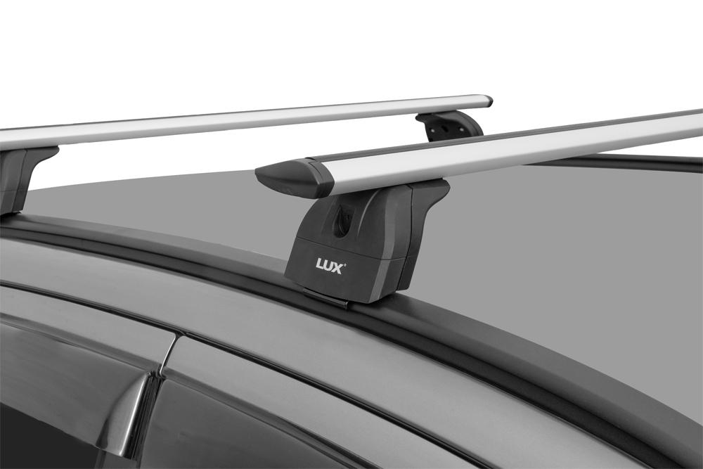 Багажник на крышу Lifan X70 2017-..., Lux, крыловидные дуги на интегрированные рейлинги