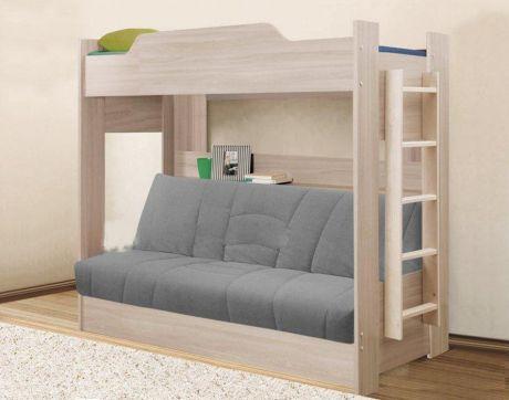 Кровать детская двухъярусная с диван-кроватью
