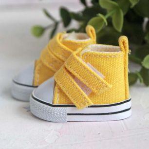 Обувь для кукол ЛЮКС - кеды 5 см (желтый)