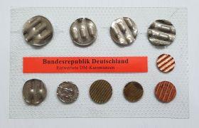 Германия официальный набор погашеных монет ФРГ (Msh)