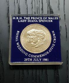 25 пенсов 1981 юбилейная Монета Свадьба принцессы Дианы и принца Уэльского в футляре (отличная) Msh
