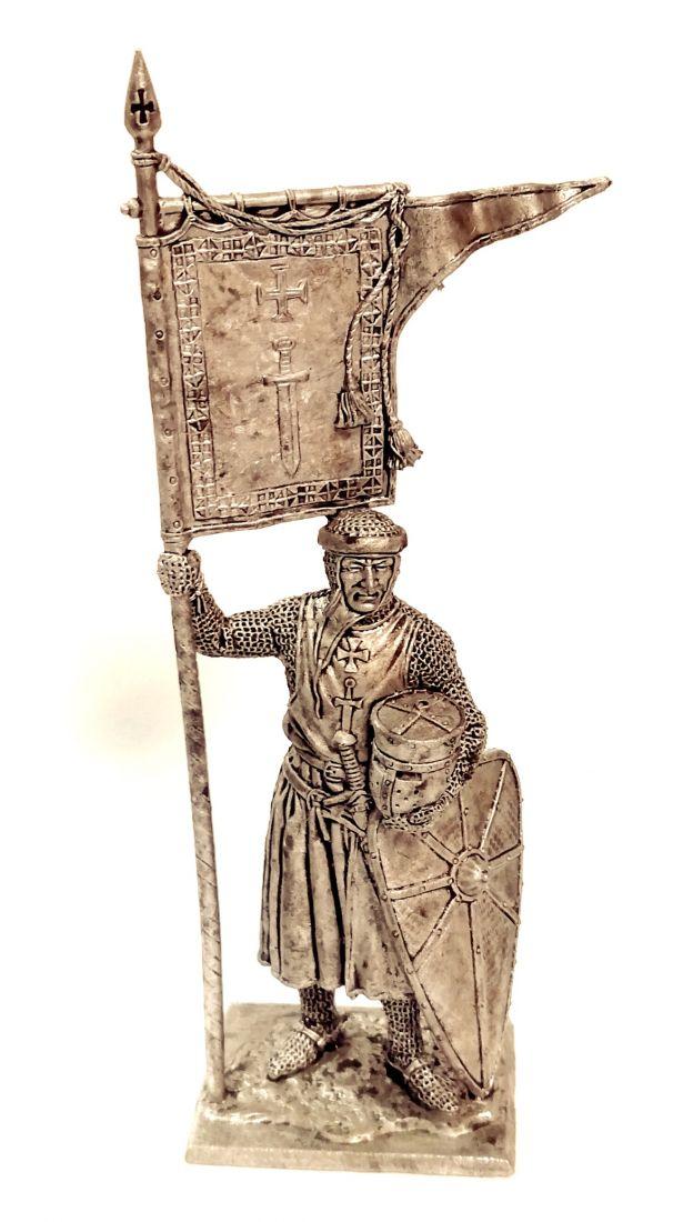Фигурка Рыцарь Ордена Меченосцев 1202-1237 г. олово