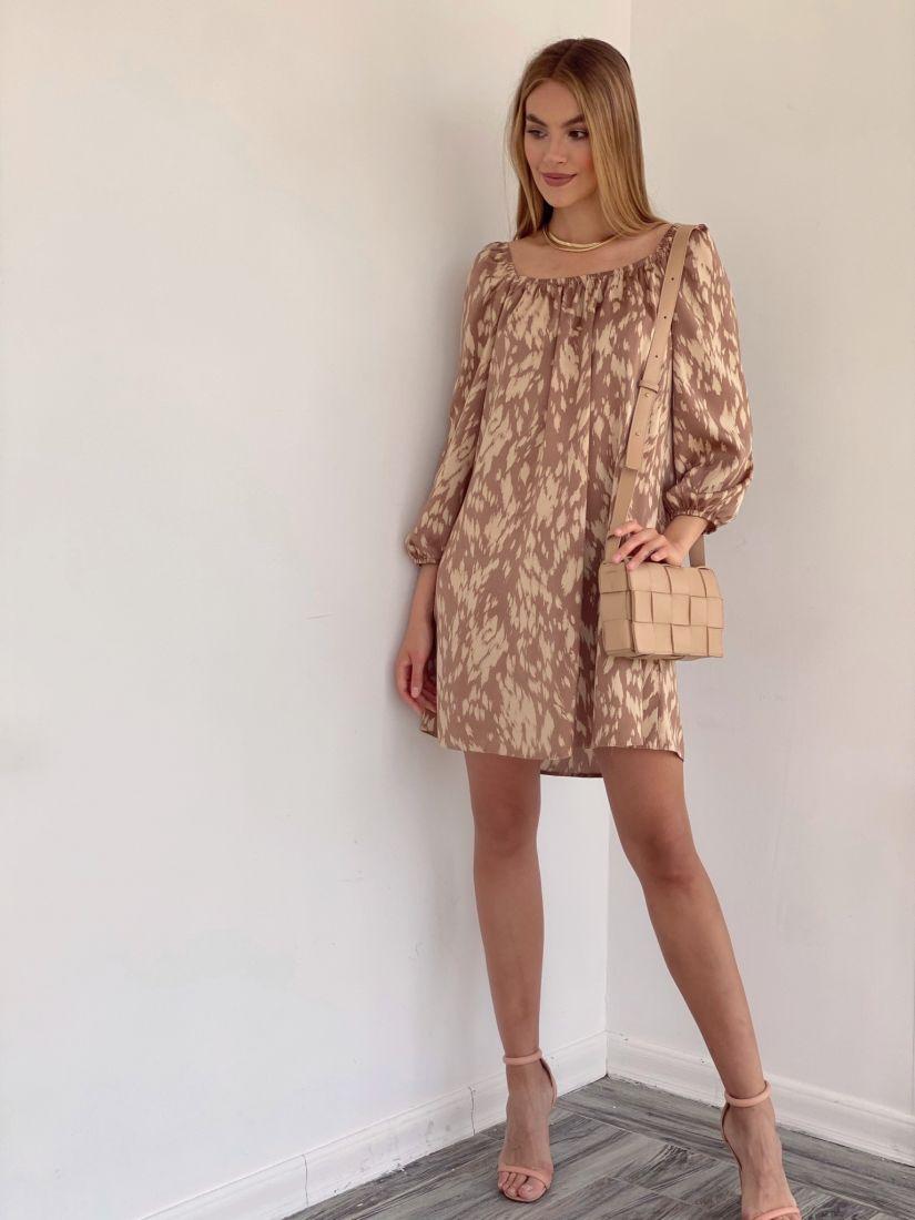 4250 Мини-платье с леопардовым принтом