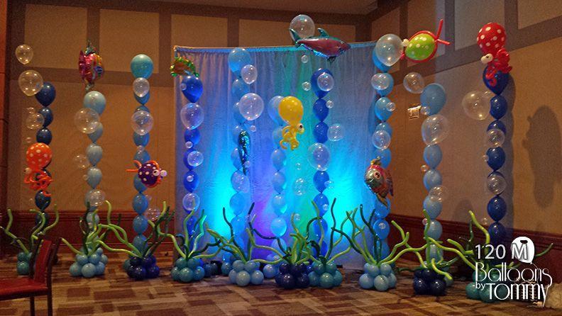 """Фото-зона из шаров """"подводное царство"""""""