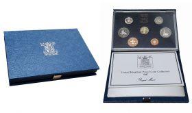 """Набор монет Великобритания 1987 год """"История Великобритании"""" в коробке"""