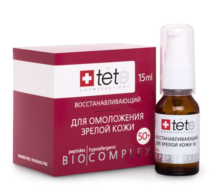 Биокомплекс восстанавливающий  для лица, шеи и декольте 50+ Tete cosmeceutical (Тете косметик) 15 мл