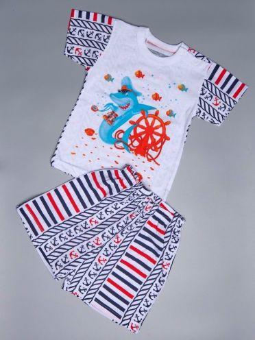 Костюм Акула: футболка 2 кн, шорты kA-KS069(2)-SUk