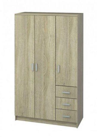 Шкаф 3х-дверный с ящиками Лофт