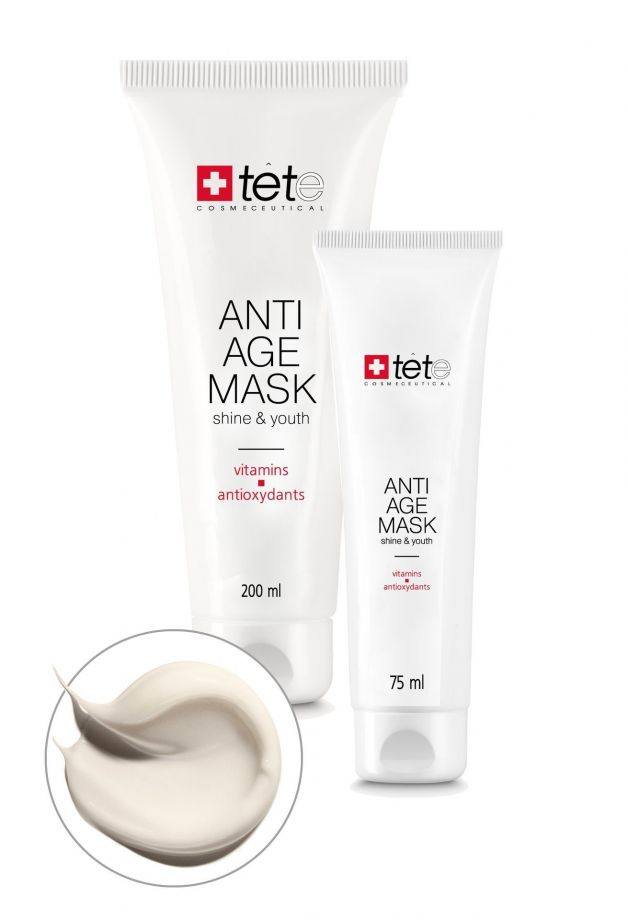 Омолаживающая маска с витаминами и антиоксидантами (Anti-age Mask Vitamins and Antioxydants) Tete cosmeceutical (Тете косметик) 75/200 мл