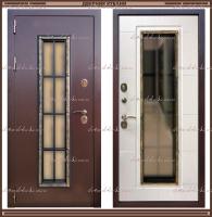 Входная дверь Агора 2200 х 960 Лиственница светлая со стекло-пакетом :