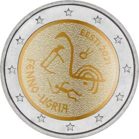 Финно-угорские народы  2 евро Эстония 2021