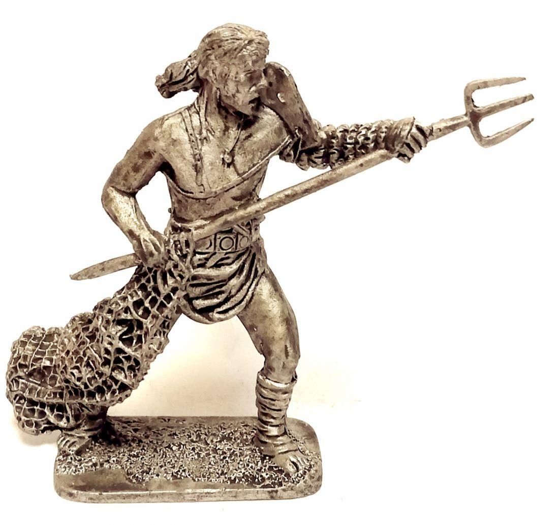Фигурка Римский гладиатор ретиарий 1-3 в. н.э. олово