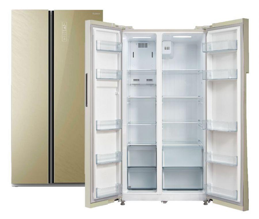 Холодильник Бирюса SBS 587 GG Бежевое стекло