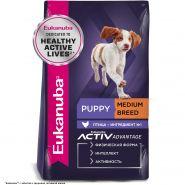 Eukanuba Puppy Medium Breed Корм для щенков средних пород (3 кг)