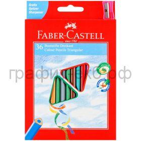 Карандаши цв.36цв.Faber-Castell ECO трехгранные 120536