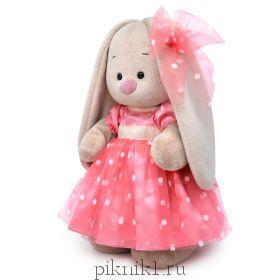 Зайка Ми в розовом платье 32 см