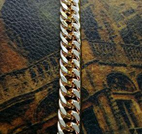 Массивный позолоченный браслет с эффектом алмазной грани, 9 мм (арт. 2503031)