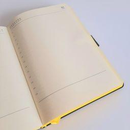 Ежедневник Stellar черный с желтым
