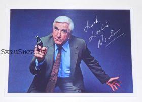 Автограф: Лесли Нильсен. Голый пистолет. Редкость