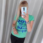 Мятная футболка Stop
