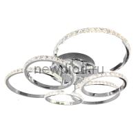 Управляемая светодиодная люстра PRINCESSA 144W 6R-626x578x135-CHROME/CRYSTALL-220-IP20
