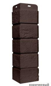 Угол состаренный кирпич 383*170мм. Цвет: коричневый, молочный, песочный,бежевый,терракотовый) (под заказ)