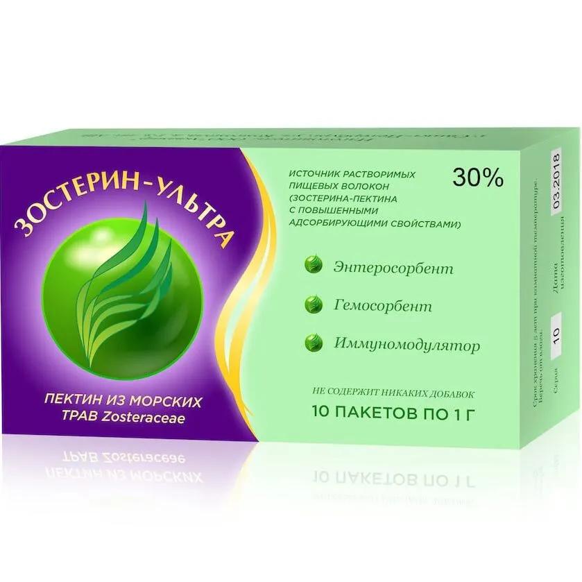 БАД Зостерин-Ультра 30%, 10 пакетиков по 1г