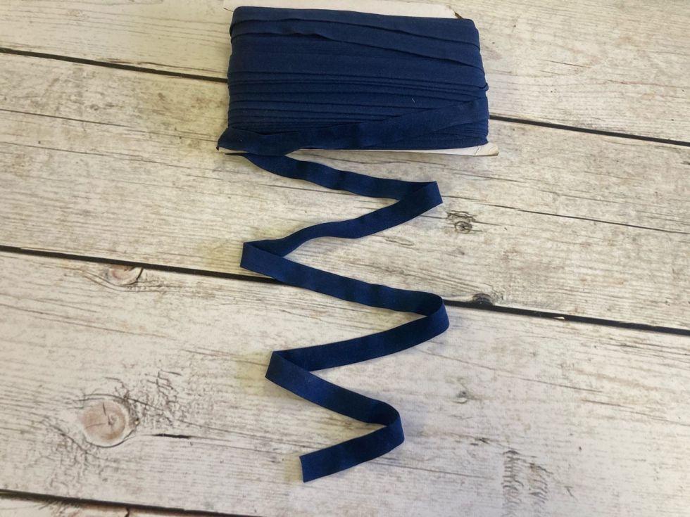 окантовочная резинка -бейка темно-синяя матовая