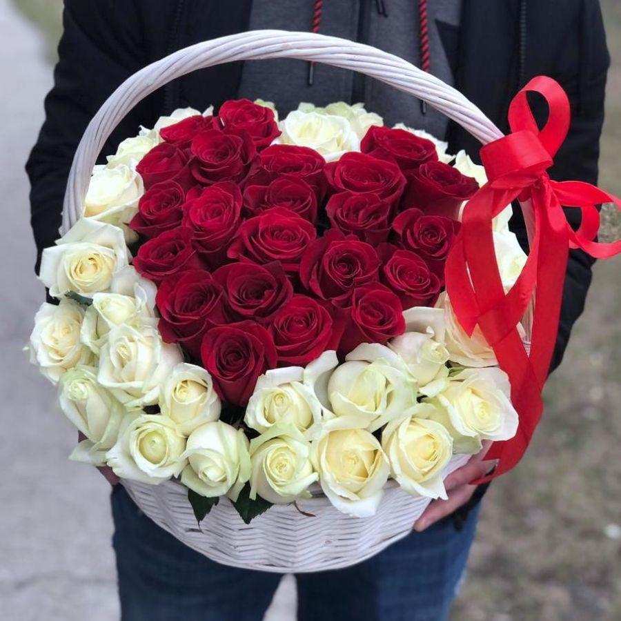 """Корзина """"Сердце для любимой"""""""