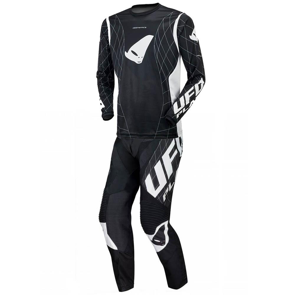 UFO Deepspace Black джерси и штаны для мотокросса, черные