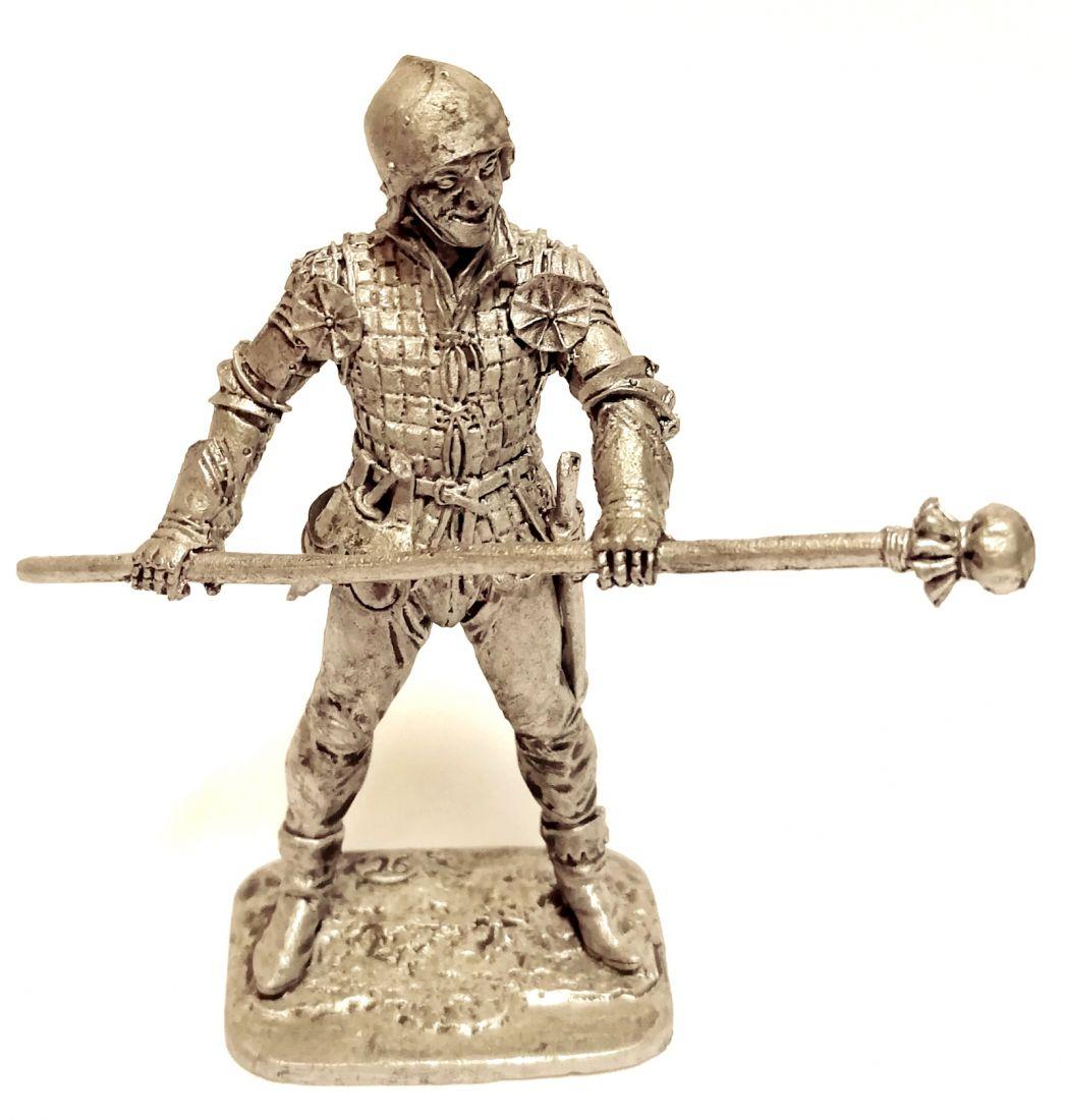 Фигурка Артиллерист с прибойником. Западная Европа, 15 в олово