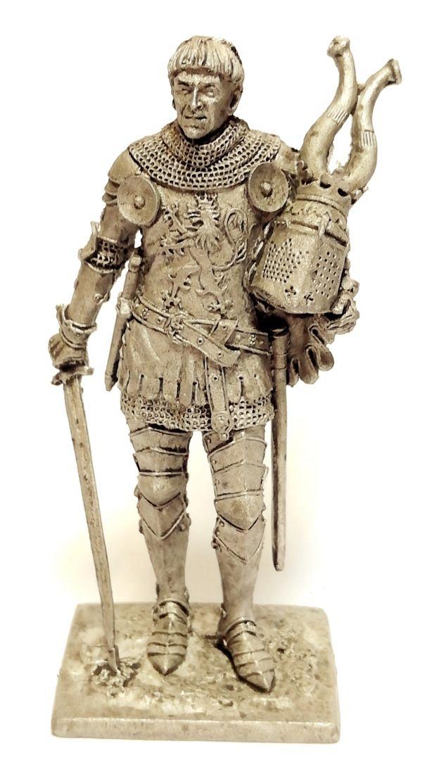 Фигурка Западноевропейский рыцарь 14в. олово