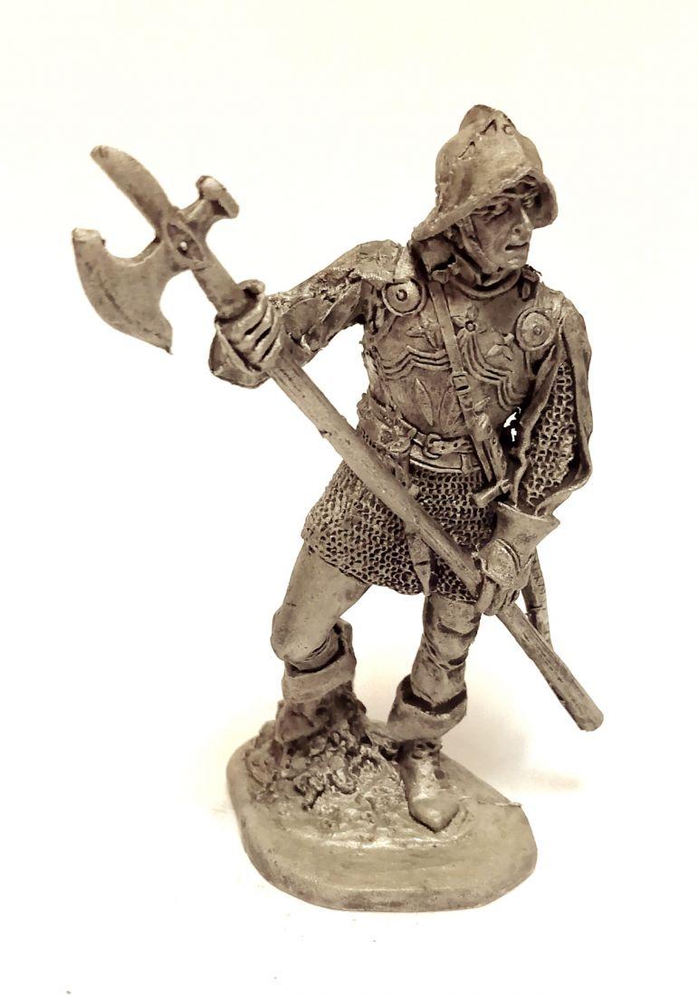 Фигурка Немецкий пеший воин 1500 г. олово