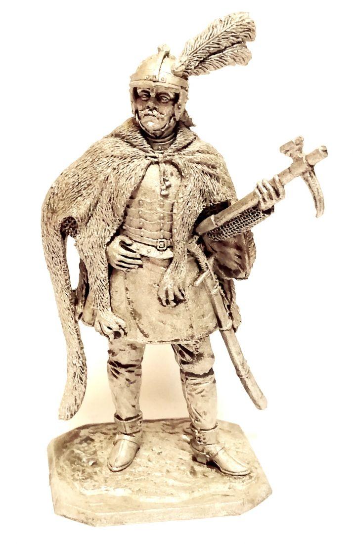 Фигурка Польский гусарский товарищ 1600-1620г. олово